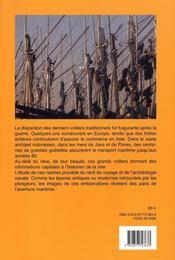 Les dernières goélettes ; les voiliers marchands d'Indonésie - 4ème de couverture - Format classique