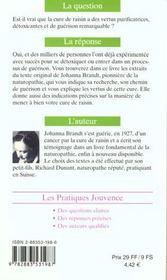 Cure de raisin (la) n.47 - 4ème de couverture - Format classique