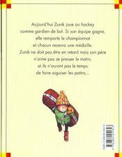 Zunik ; le championnat - 4ème de couverture - Format classique