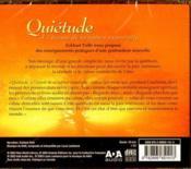 Quietude - livre audio - 4ème de couverture - Format classique