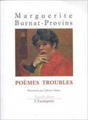 Poemes Troubles - Couverture - Format classique