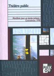 Theatre public - controverses - Intérieur - Format classique