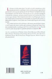 Responsabilite penale et vie publique en france et a l'etranger [actes du colloque, paris, 1er octob - 4ème de couverture - Format classique
