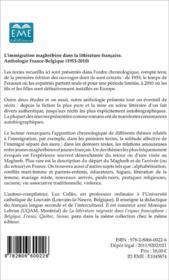 L'immigration maghrébine dans la littérature française - 4ème de couverture - Format classique