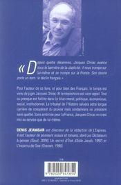 Accuse chirac, levez-vous ! - 4ème de couverture - Format classique