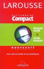 Compact Francais - Italien ; Italien-Francais - Intérieur - Format classique