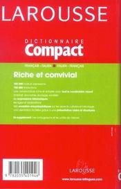 Compact Francais - Italien ; Italien-Francais - 4ème de couverture - Format classique