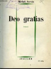 Deo Gratias - Roman - Couverture - Format classique