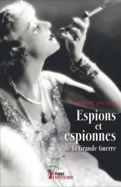 Espions et espionnes de la grande guerre - Couverture - Format classique