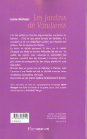 Les Jardins De Vandieres - 4ème de couverture - Format classique