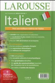 Maxi poche plus dictionnaire Larousse ; français-italien / italien-français (édition 2016) - 4ème de couverture - Format classique