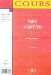 Voies D'Execution (4e Edition) - 4ème de couverture - Format classique