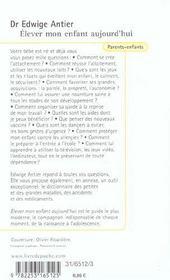 Elever Mon Enfant Aujourd'Hui - 4ème de couverture - Format classique