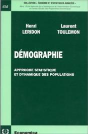 Demographie, Approche Statistique Et Dynamique Des Populations - Couverture - Format classique