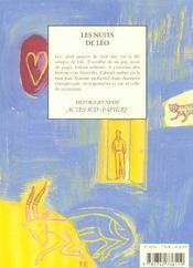 Les Nuits De Leo - 4ème de couverture - Format classique