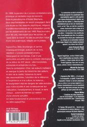 L'univers contestationnaire - 4ème de couverture - Format classique