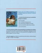 Les fondamentaux de la natation ; initiation et perfectionnement pour tous - 4ème de couverture - Format classique