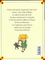Zunik ; le chouchou - 4ème de couverture - Format classique