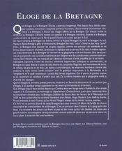 Eloge De La Bretagne - 4ème de couverture - Format classique