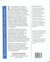 Representations Sociales Et Education - 4ème de couverture - Format classique