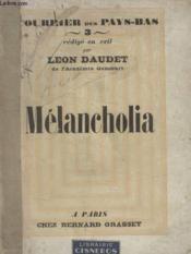 Melancholia. - Couverture - Format classique