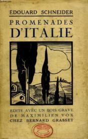 Promenades D Italie. - Couverture - Format classique