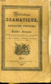 BIBLIOTHEQUE DRAMATIQUE, ou REPERTOIRE UNIVERSEL DU THEATRE FRANCAIS avec des remarques, des notices, et l'examen de chaque pièce - CHEFS-D'OEUVRES DRAMATIQUES DE VOLTAIRE - TOME PREMIER (page de titre) ou TOME XVII (dos) - Couverture - Format classique