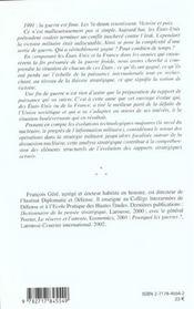 Les Sorties De Guerre ; Les Etats-Unis Et La France Face A L'Apres-Guerre Froide - 4ème de couverture - Format classique