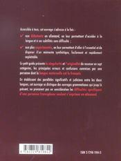Les Sept Peches De L'Allemand Guide Des Erreurs A Eviter En Grammaire Et En Vocabulaire En 7 Chapit. - 4ème de couverture - Format classique