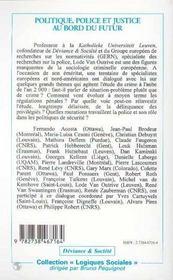 Politique, Police Et Justice Au Bord Du Futur - 4ème de couverture - Format classique