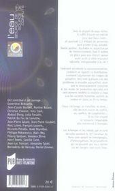 L'Eau, Source De Vie, Source De Conflits - 4ème de couverture - Format classique