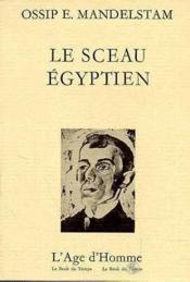 Sceau Egyptien (Le) - Couverture - Format classique