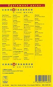 Oeuvre - zola (l') - 4ème de couverture - Format classique