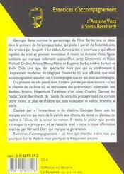 Exercices d'accompagnement - d'antoine vitez a sarah bernhardt - 4ème de couverture - Format classique