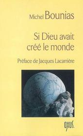 Si Dieu Avait Cree Le Monde - Intérieur - Format classique