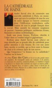 Guy Des Cars T.31 ; La Cathédrale De Haine - 4ème de couverture - Format classique
