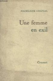 Une Femme En Exil. - Couverture - Format classique