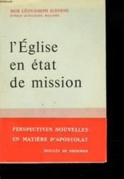 L'Eglise En Etat De Mission - Couverture - Format classique