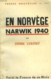 En Norvege. Narwik 1940. - Couverture - Format classique