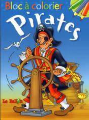 Bloc à colorier ; les pirates - Couverture - Format classique