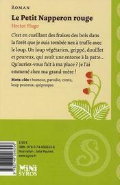 Le Petit Napperon rouge - 4ème de couverture - Format classique