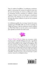 Un lotus s'épanouit ; manuel pratique de méditations assises guidées pour la joie, la guérison et la transformation - 4ème de couverture - Format classique
