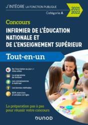 Concours infirmier de l'éducation nationale et de l'enseignement supérieur ; tout-en-un (édition 2020/2021) - Couverture - Format classique