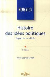 Histoire des idées politiques depuis le XIX siècle (9e édition) - Intérieur - Format classique