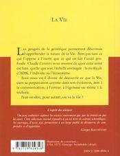 La Vie - 4ème de couverture - Format classique