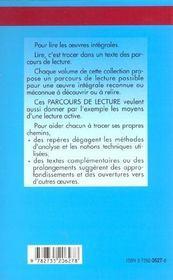 Madame Bovary, de Gustae Flaubert - 4ème de couverture - Format classique