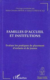 Familles d'accueil et institutions ; évaluer les pratiques de placement d'enfants et de jeunes - Intérieur - Format classique