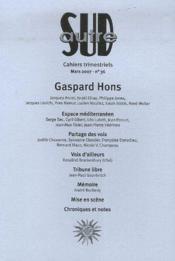 Revue Autre Sud T.36 ; Gaspard Hons - Couverture - Format classique