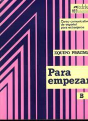 Para empezar b (unites 8 a 14) ; manuel - Couverture - Format classique
