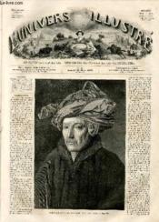 L'UNIVERS ILLUSTRE - DEUXIEME ANNEE N° 44 Portrait d'un gentilhomme, par Van Eyck - Couverture - Format classique